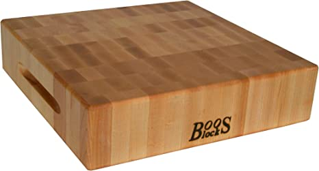 John Boos Block Ccb151503 Classic Reversible Maple Wood End Grain Chopping Block 15 Inches X 15 Inches X 3 Inches Cutting Boards Kitchen Dining