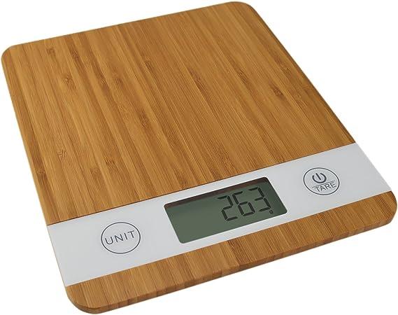 Smart Weigh Bambus Digitale Kuchenwaage Mit Tara Funktion Amazon De Kuche Haushalt