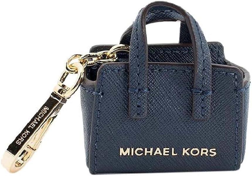Michael Kors Cindy Navy Saffiano Leather Keychain Bag Charm