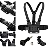⚡⚡⚡ AxPower Adjustable Go Pro Chest Strap Mount Elastic Action Camera Body Belt Harness with J Hook For GoPro HD Hero 5 4 3+ 3 GoPro 6