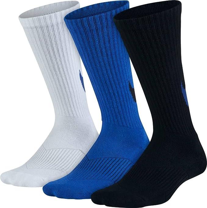 66a0c6e4b8585 Amazon.com: NIKE Boys Performance Cushion Crew Sock (3 Pair): Clothing
