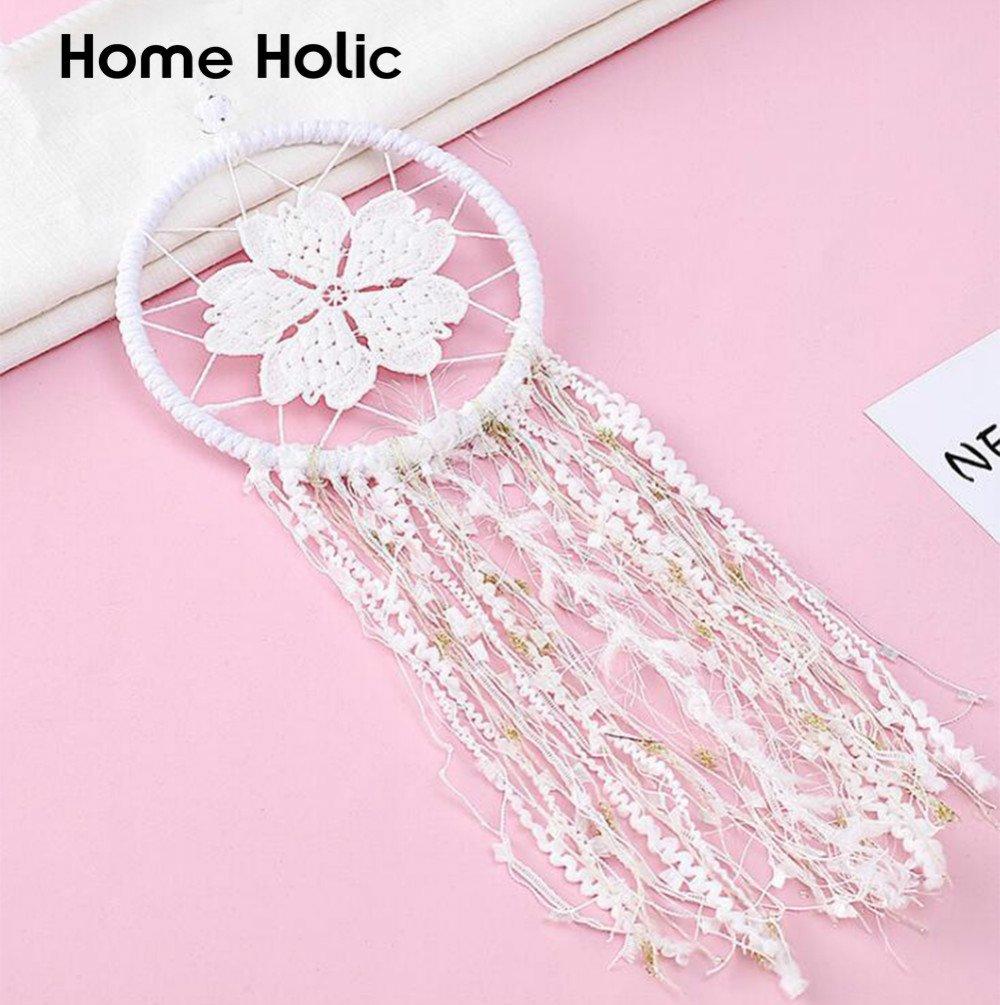 Home Holic Dream Catcher Attrape Maison attrape reve blanc plume voiture Hanging Room Wall Decor chambre ornement