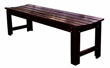 Amazoncom Shine Company 5 Ft Backless Garden Bench Burnt