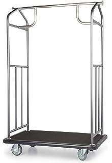 841d71d5a451 Amazon.com: Value Valet Bellman's Cart- Chrome Finish: Home & Kitchen