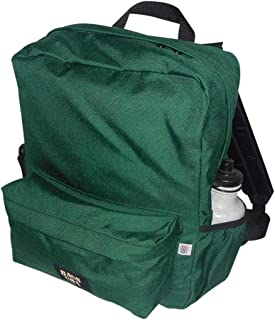 product image for backpack H2O single with two side pockets, one front pocket Made in USA. (Forest green)