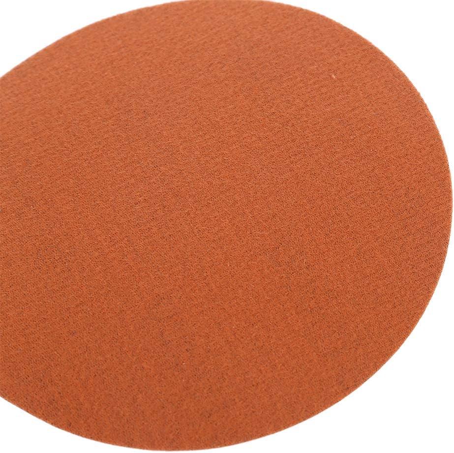 Rtengtunn 10 Piezas 125mm Discos de Lijado h/úmedo en seco de Agua Papel de Lija Autoadhesivo de Terciopelo Posterior No.5000