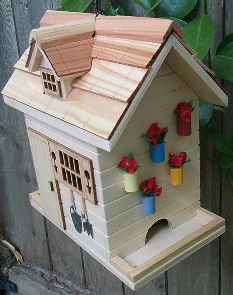 "8 ""totalmente funcional natural acabado madera flores cobertizo al aire libre jardín casa para"
