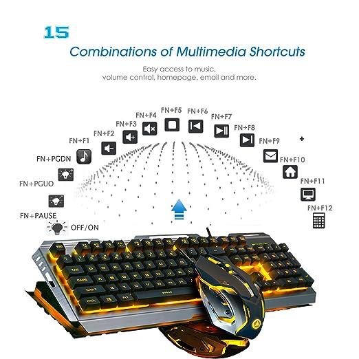 Amazon.com: FELICON V1 Juego de ratones de teclado para ...