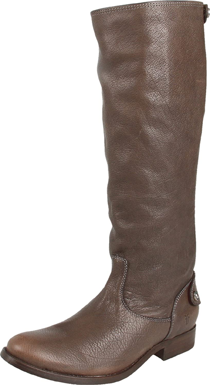 Grey Antique Soft Full Grain Frye Women's Melissa Button Back Zip Knee-High Boot