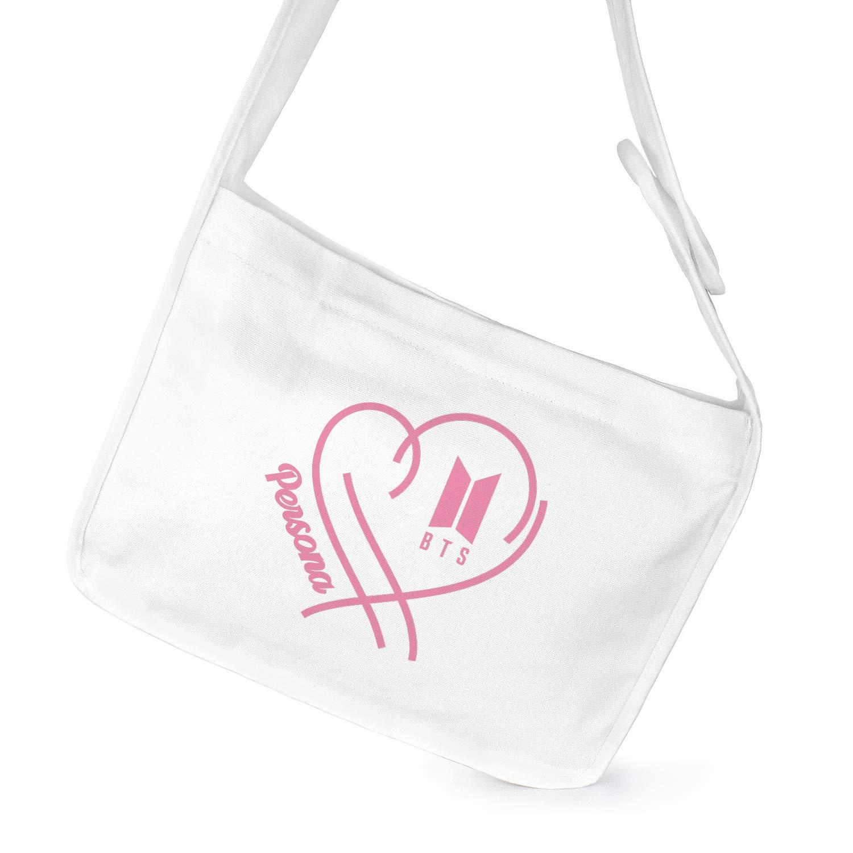 Fanstown Kpop BTS Bangtan Boys Backpack Messenger Bag Shoulder Bag Corss Body Bag Persona Logo Member Pattern with lomo Card