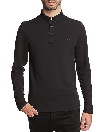 Slim Homme Manche Vêtements Polo Longue Noir Fit Et qTpfEx8