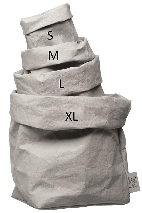 frutero Utensilo /20/cm de di/ámetro Caja de Regalo/ Cesta Maceta Decorativa de /Lavable Papel con Aspecto de Piel//Funci/ón Piel/ bun-di Swiss krempel Box XL como Cesta de Pan Grande