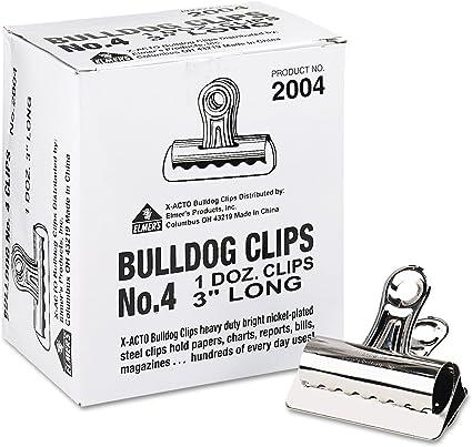 BullDog Clips, Steel, Capacidad de 1