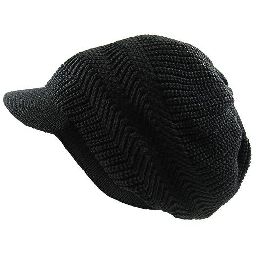 01e97c5e401 RW Knitted Cotton Rasta Slouchy Beanie Visor (Black) at Amazon Men s ...