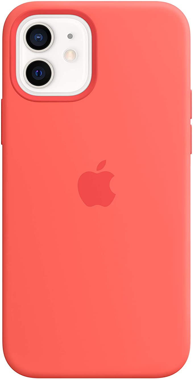 Amazon.com: Apple Silicone Case with MagSafe (for iPhone 12 and iPhone 12  Pro) - Pink Citrus