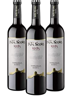 Pata Negra Crianza - Vino Tinto D.O. Rioja - Caja de 3 Botellas x 750 ml: Amazon.es: Alimentación y bebidas