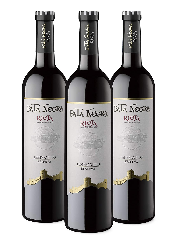Pata Negra Reserva Rioja Vino Tinto - 3 Botella x 750 ml - Total: 2250 ml