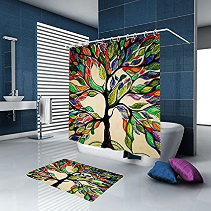 Image Unavailable Not Available For Color Colorful Tree Shower Curtain Of Life