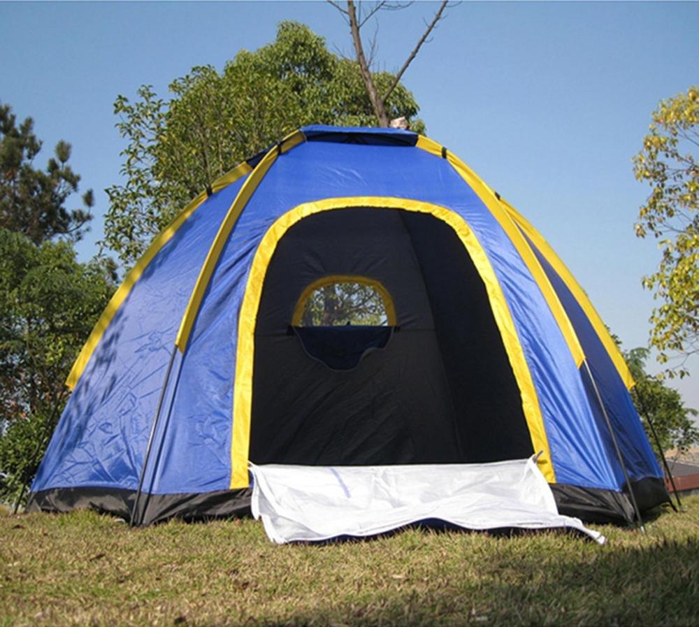 YHKQS-KQS Tente de camping d'été Tente de plage   tente familiale étanche à l'eau ultra-légère 3-4 personnes avec sac de transport 240  210  130CM (L  w  h)