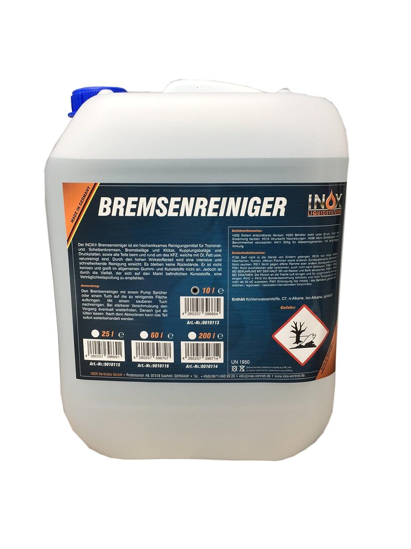 INOX Bremsenreiniger 10L Kanister, acetonfrei - Bremsscheibenreiniger fü r KFZ