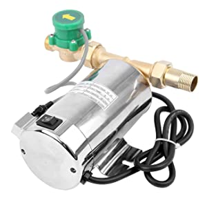 TryE 90W Automatic 110V Water Pressure Booster 250GPH Pump for Home Shower Washing Machine