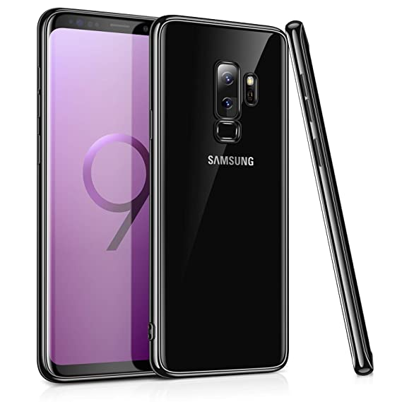 best authentic f2526 7668d TORRAS Clear Transparent Galaxy S9+ Plus Case,Slim Fit Ultra Thin Soft TPU  Case Gel Cover Compatible with Galaxy S9 Plus (6.2