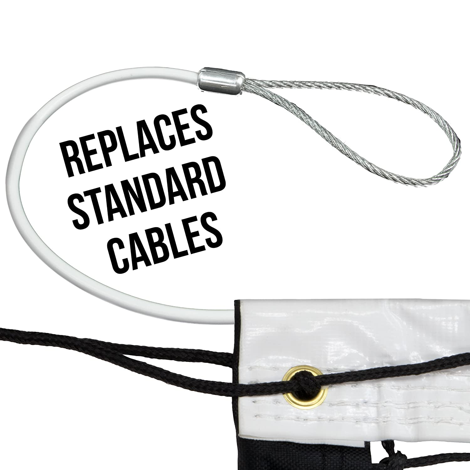 47-foot Replacement Tennis Net Cable with 3\