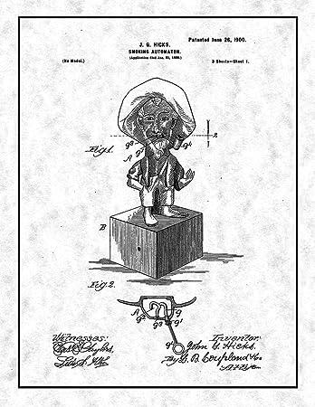 amazon smoking automaton patent print gunmetal with border 16 Canvas Prints smoking automaton patent print gunmetal with border 16 quot x 20 quot m14011