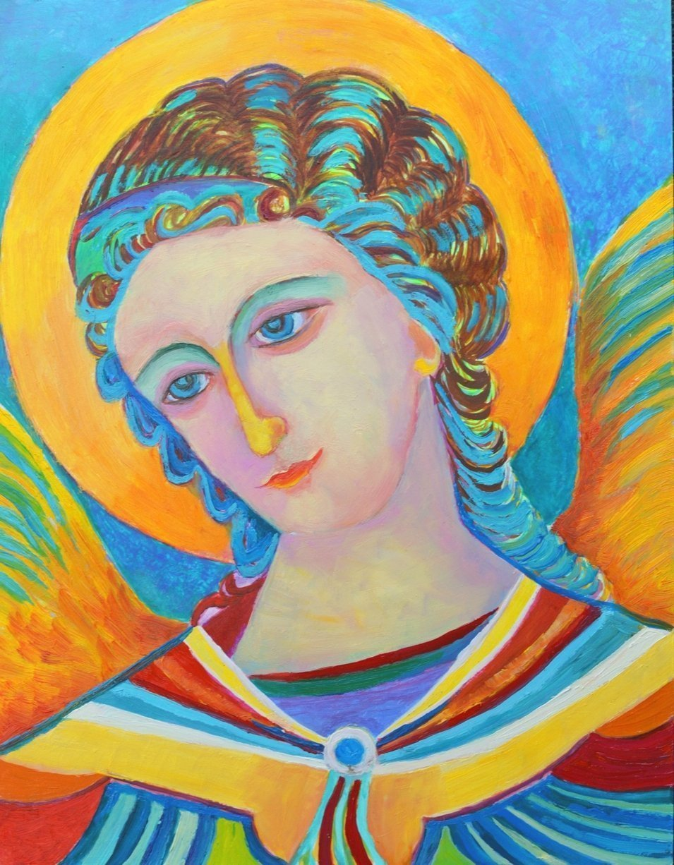 Amazon Com Saint Archangel Gabriel Poster Print A3 Angels And Cherubs Icon Christian Catholic Religious Holy Wall Art For Your Home Decor Handmade