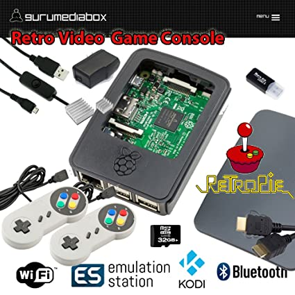 Amazon com: GuruMediaBox 32GB Raspberry Pi 3 RetroPie Retro
