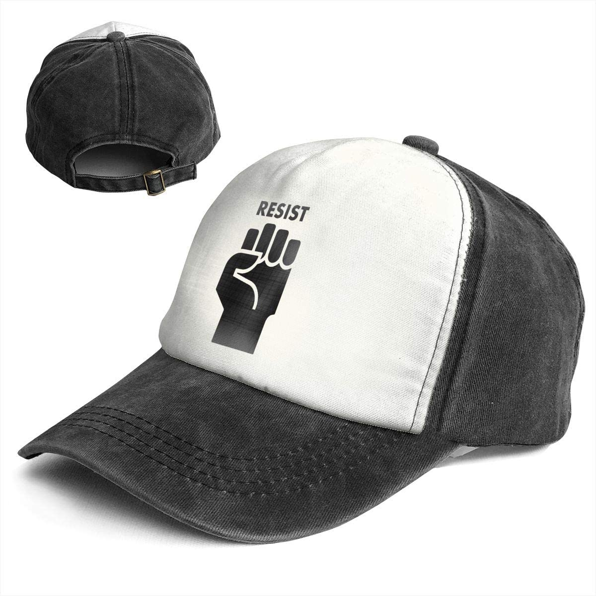 Fashion Vintage Hat Resist Fist Adjustable Dad Hat Baseball Cowboy Cap