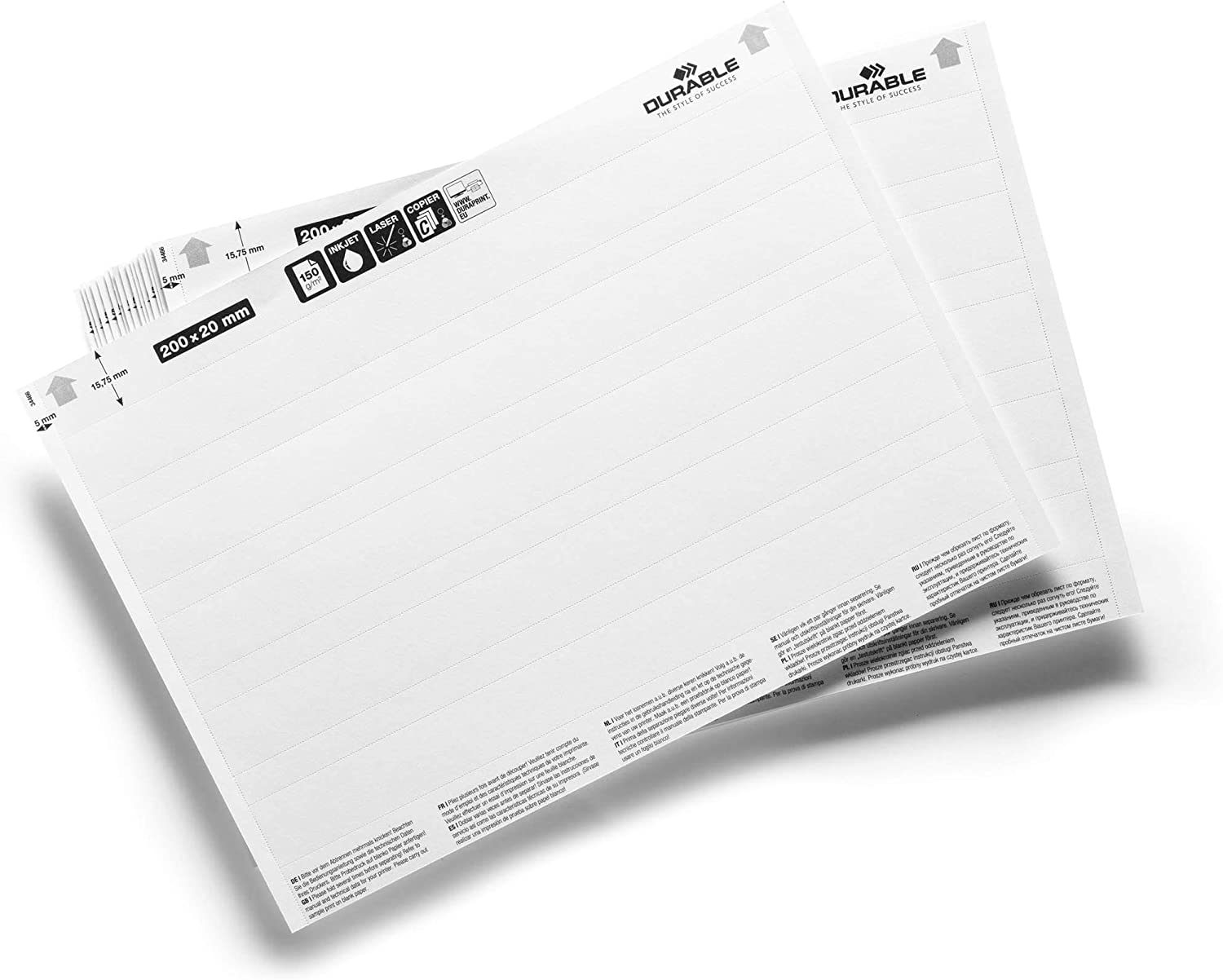 Amazon.com : Durable 800002 Label Refill Inserts 100 Labels ...