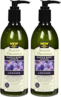 product image for Avalon Organics Lavender Hand & Body Lotion, 12 Oz (Pack of 2)