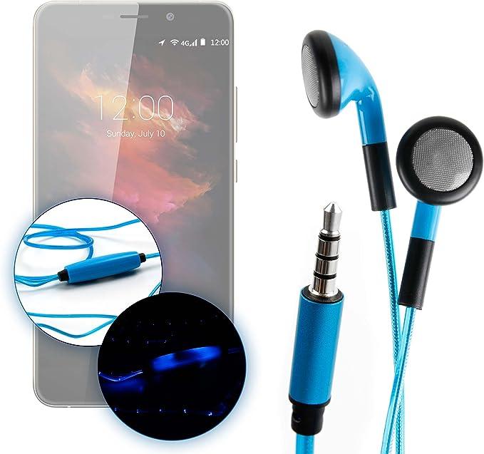 DURAGADGET Auriculares In-Ear con Luz LED Azul para Smartphone Umidigi UMI MAX: Amazon.es: Electrónica