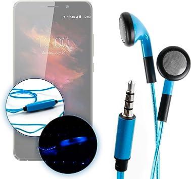 DURAGADGET Auriculares In-Ear con Luz LED Azul para Smartphone ...