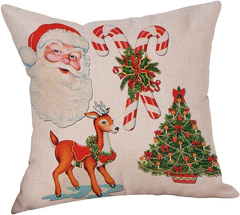 ODJOY-FAN Dekorative Baumwolle Kissenbezüge, Weihnachten Socken ...