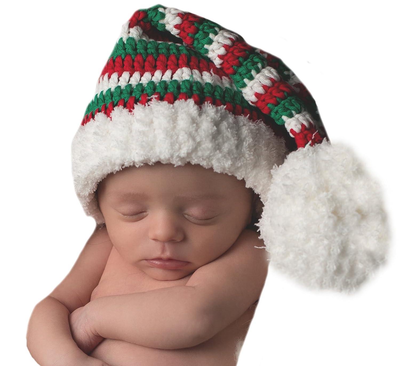 c00a075cb Amazon.com: Christmas Baby Stocking Hat for Boys or Girls - Newborn ...