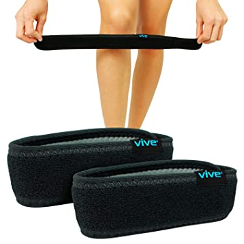 7d1df41158 Vive Knee Band [Pair] - Patella Tendon Strap Stabilizer Brace for Runner &  Jumper