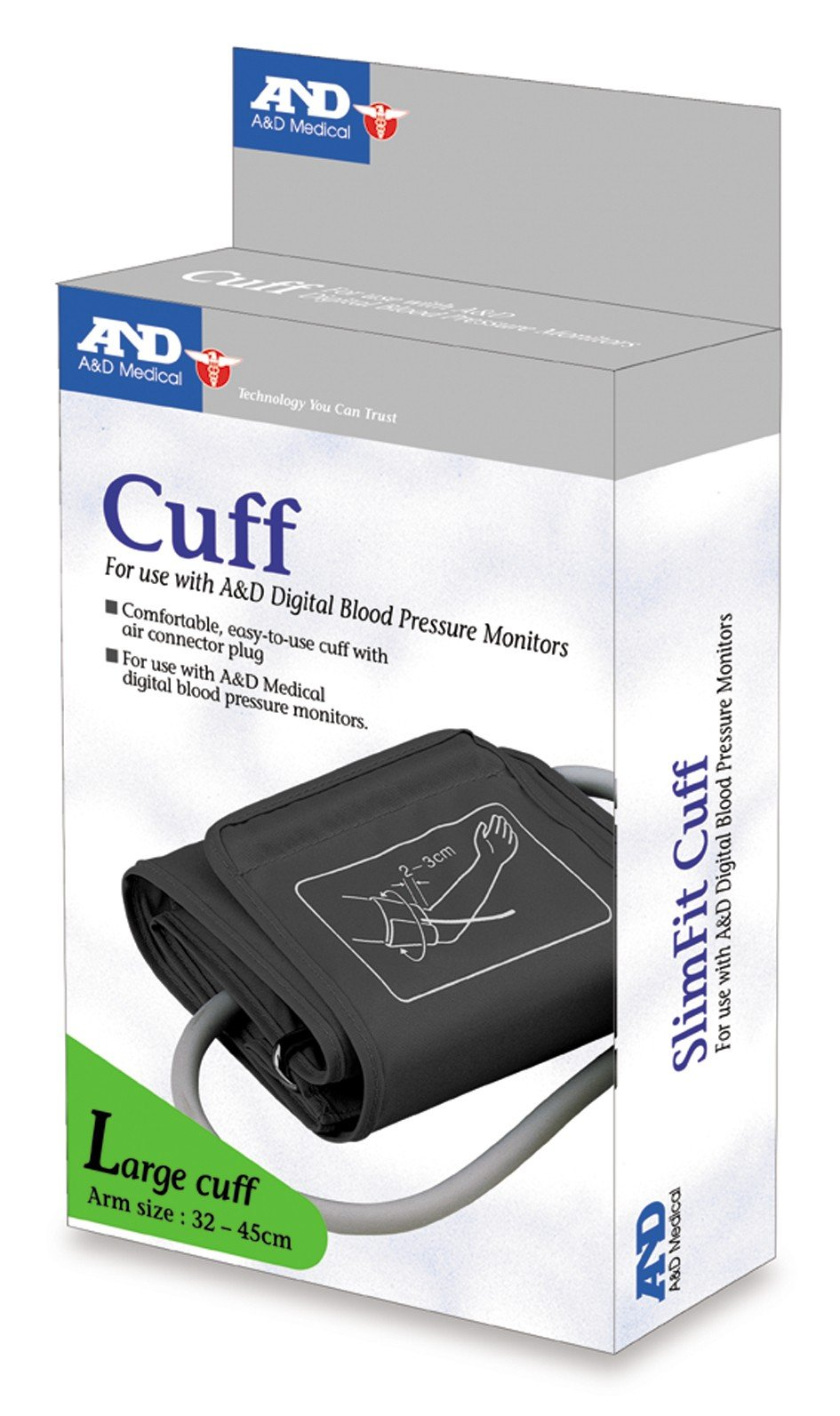 A&D Large Blood Pressure Monitor Cuff 32 to 45cm