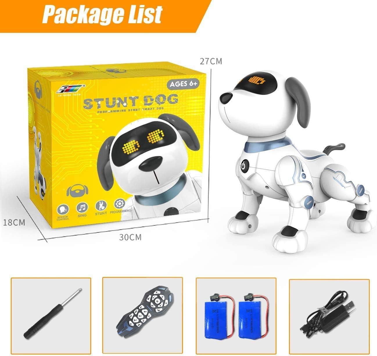 DRAKE18 Chien Robot RC Chiot interactif Intelligent Chanter Danser Parler /être Un Animal de Compagnie /électronique avec Touch Response Cadeau pour Les Enfants