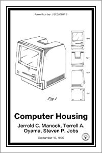 "Apple Mac Computer Patent Print Art Poster - White 12"" x 18"""