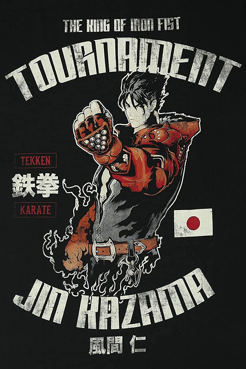 Esports Fan-Merch Gaming TEKKEN Jin Kazama M/änner T-Shirt schwarz