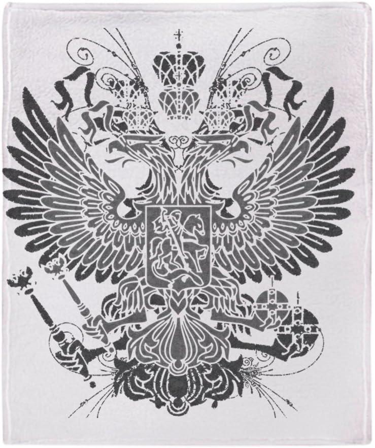CafePress Couvre-lit Motif Aigle Byzantine 50x60 Blanc
