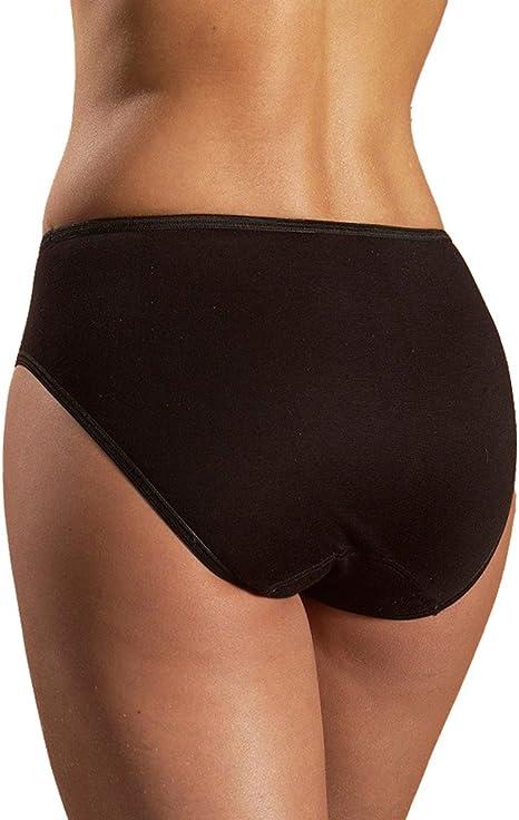 HERMKO 1150 Lot de 5 Culotte Maxi Femme Basic Slip en 100/% Coton Biologique