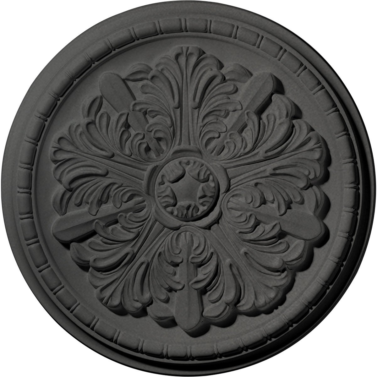 Ekena Millwork CM17WASGS Washington Ceiling Medallion, Steel Gray