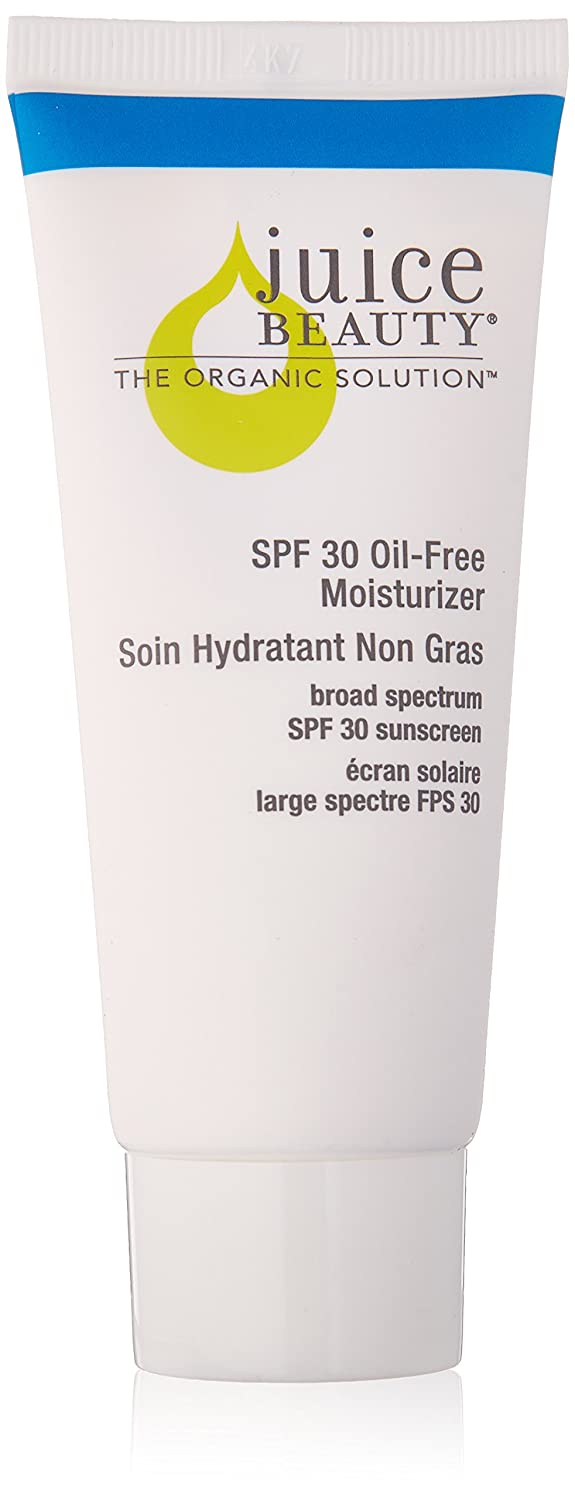 Juice Beauty SPF 30 Oil-Free Moisturizer, 2 fl oz., Mineral Sunscreen, Broad Spectrum UVA UVB, Organic, Vegan, Reef Safe, Non-Toxic, No Chemical, Cruelty Free
