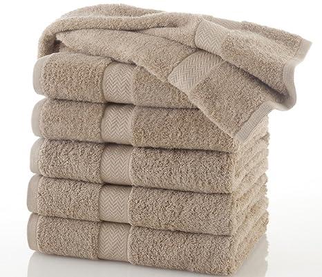 100% CAQUI algodón se puede lavar a máquina. Comercial toallas de baño, dimensiones