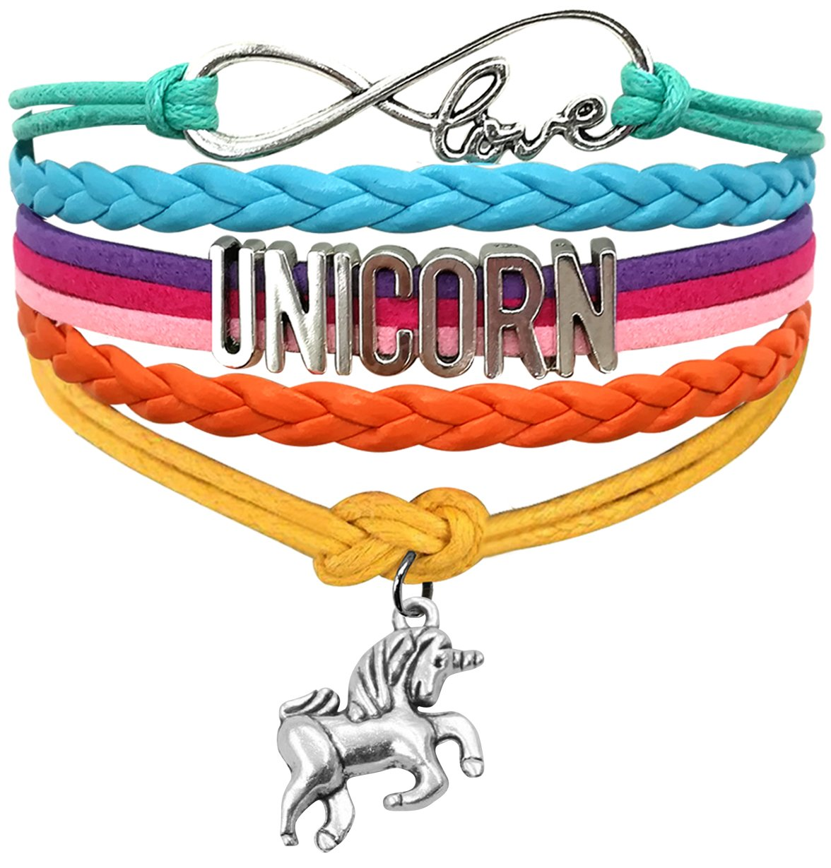 Boonix Unicorn Bracelet Unicorn Gift Cute Wristband Gifts for Girls and Women Choose from 18 Styles