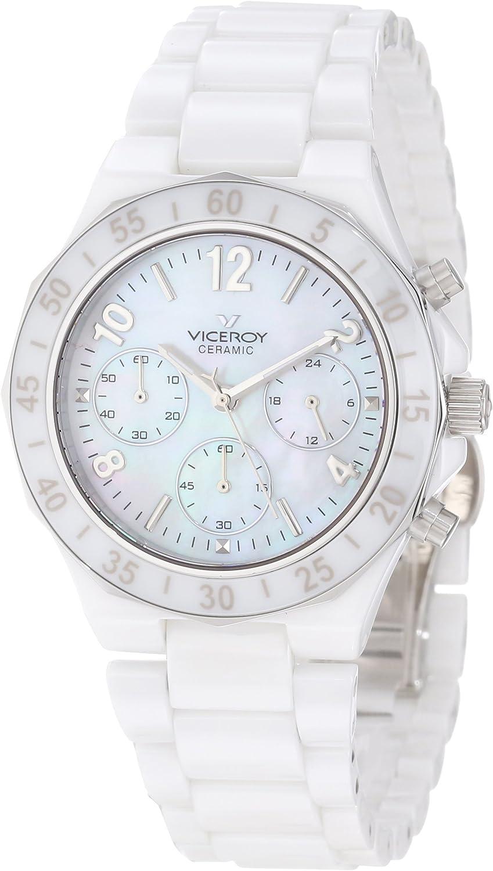 Viceroy Mujer 47600-05 Reloj cronógrafo de cerámica Blanca
