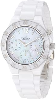 Viceroy Womens 47600-05 White Ceramic Chronograph Watch